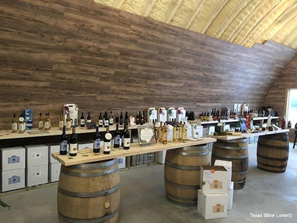 Blue Lotus winery - Hye wines on side of room