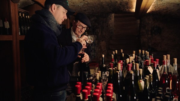 E. Guigal - Philippe and Marcel tasting wines