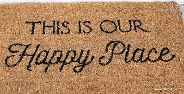 This is Our Happy Place welcome mat