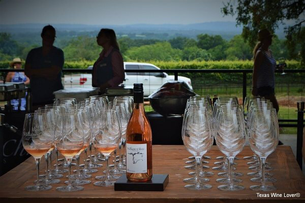 Hog and Goat Roast rose wine