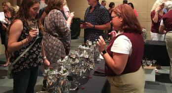 North Texas Wine Country doing the Blind Tasting Competition