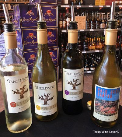 Texas wines from the Escondido Valley area were tasted at Twin Liquors' Kingwood location