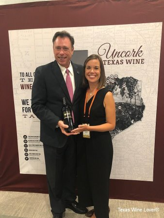 Assistant Commissioner of Agriculture Dan Hunter and Lindsay Baerwald of the GO TEXAN Texas wine program