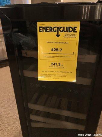 "NewAir 15"" Built-in 29 Bottle Dual Zone Wine Fridge energy guide"