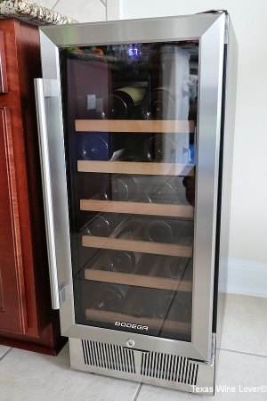 BODEGA 15 inch wine cooler by itself