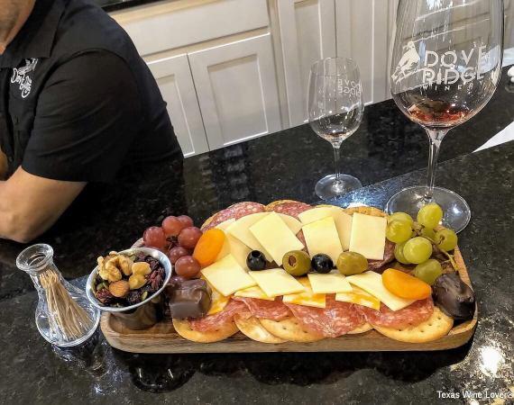Dove Ridge Winery cheese tray