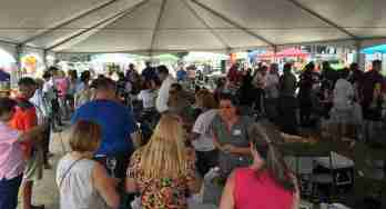 Texas wine festival under tent