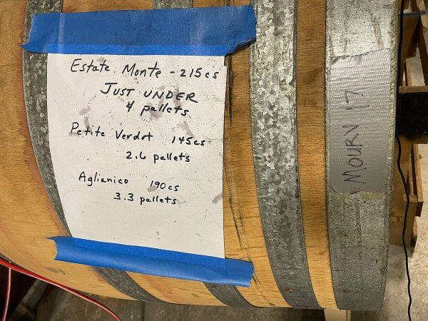 Hye Meadow Winery wine blend barrel label