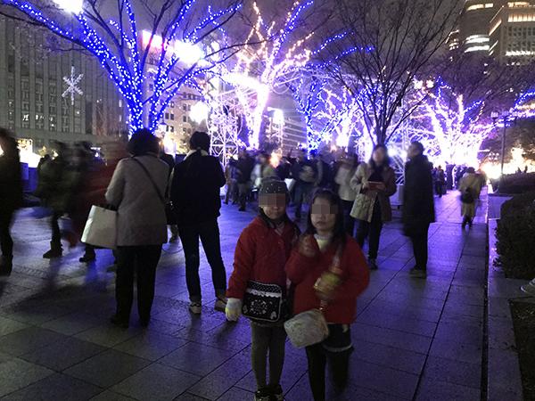 中之島イルミネーションストリートは中央公会堂から大阪市庁舎に続く遊歩道が会場。