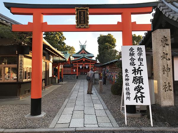 稲荷大社の規模と比べると本当に小さく見える東丸神社です。鳥居から本殿まで約15m。