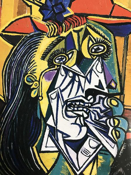 ピカソの有名な「泣く女」。モデルはドラ・マールだったとか。