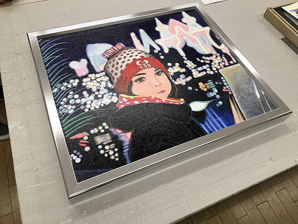 昨年、上野の森美術館「日本の自然を描く展」に出展した作品。娘を描きました。