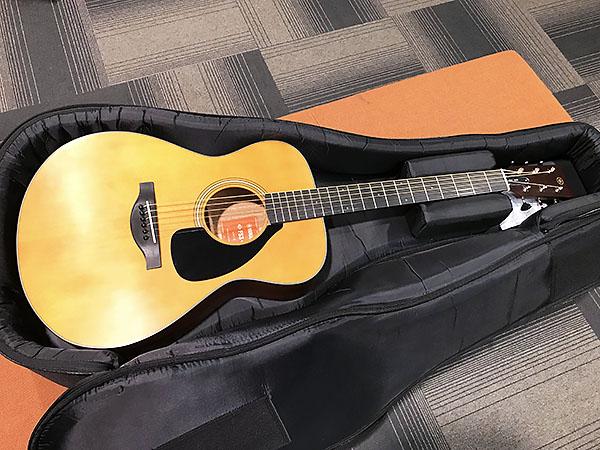 とてもオーソドックスなデザインのギター「FS3」。上等のソフトケースはおまけ。