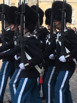 Marching guards