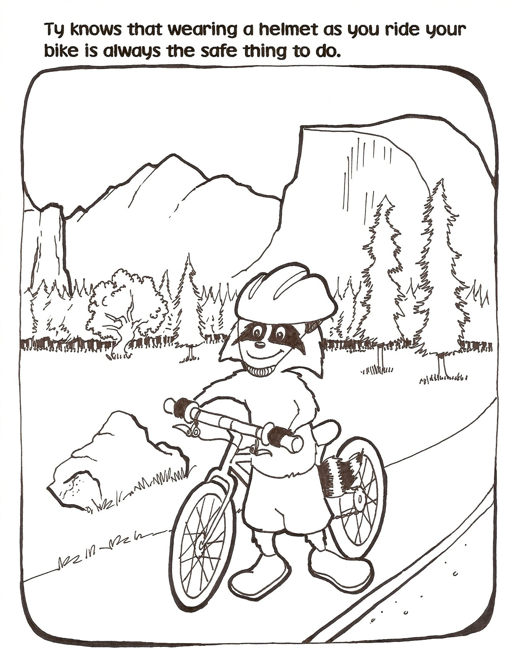 Printable Bike Safety Coloring Pages
