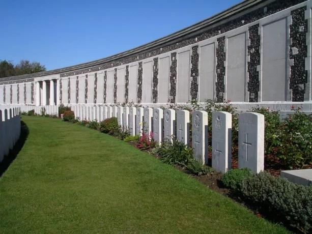 Tyne Cot Memorial Wall (CWGC Picture)
