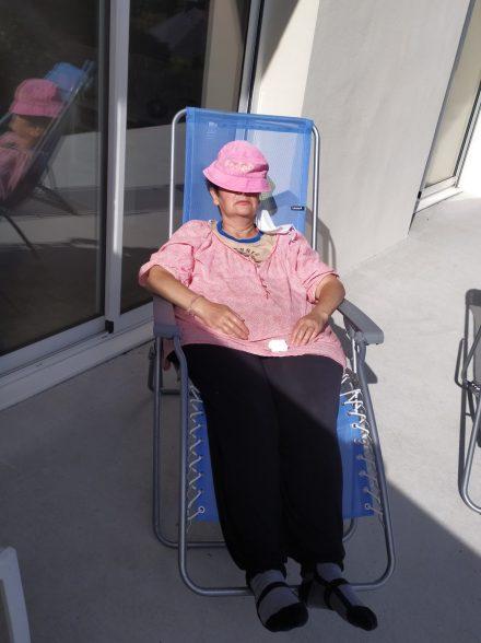 La sieste au soleil...
