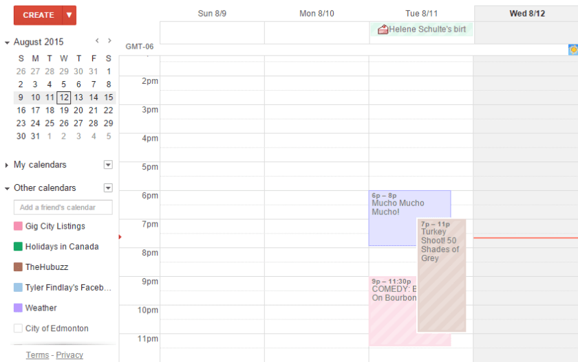 Seamlessly adds events to a users calendar