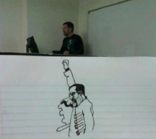 Весь семестр студент рисовал своего скучного профессора. Получилось очень забавно!