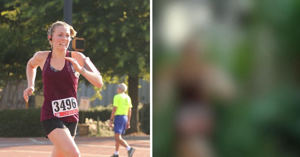Парень решил оригинально поздравив жену с победой в забеге, чем развеселил весь Интернет