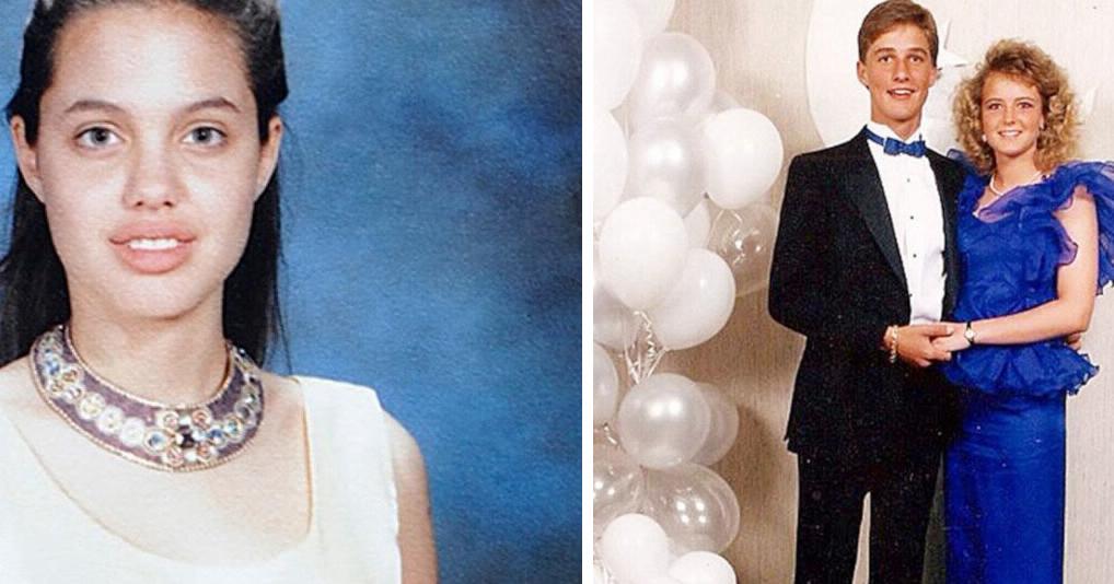 Снимки знаменитостей, на которых видно как они выглядели на выпускном