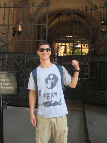 Outside the Dakota (John Lennon's building across from Central Park)