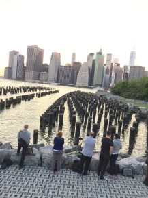 Few of the time-lapse photographers claiming their territory at the Pier