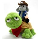 Мышка шериф и его друг черепаха. Крючком. Описание на русском