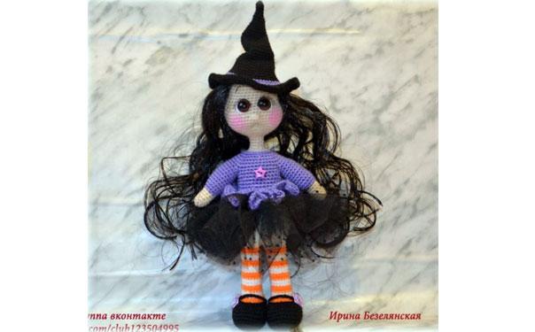 Вязаная кукла крючком. Ведьмочка. Описание