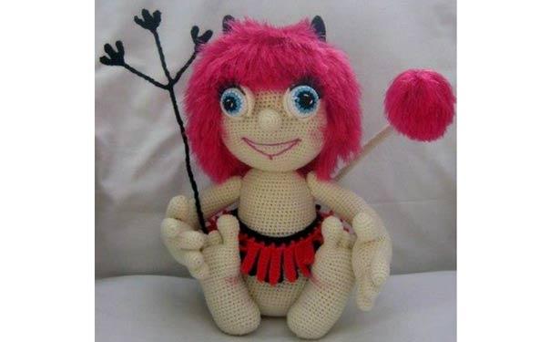 Вязаная крючком куклы. Чертенок. Описание