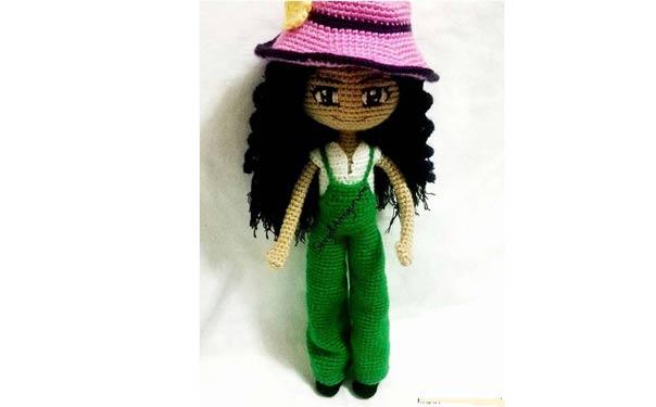 Вязаная крючком кукла Sevgi. Описание