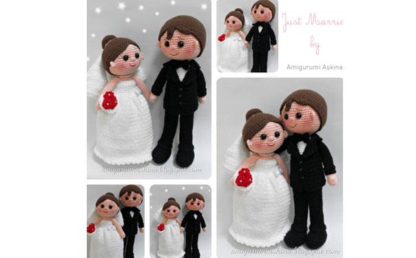 """Вязаная крючком кукла """"Жених и невеста"""". Описание"""