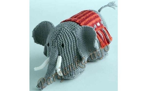 Вязаные крючком слон с бивнями. Описание