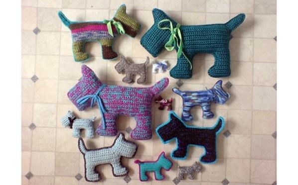 мини собачки крючком схема описание тыква вязаные игрушки