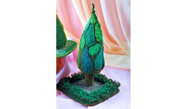 Вязаное крючком дерево. Описание