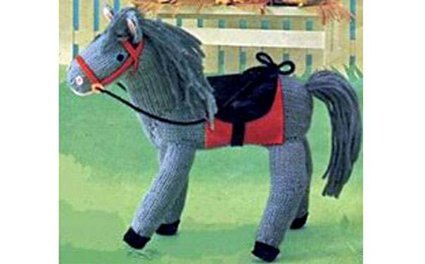 Вязаная лошадка леди Ди. Описание