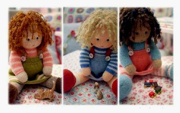 """Вязаные куклы """"Три подружки"""". Описание"""