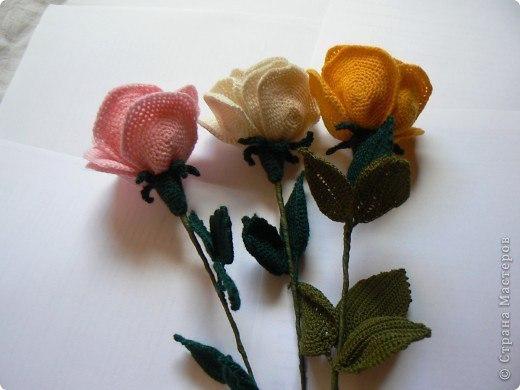 Вязаные розы. Схема