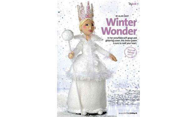 Вязаная кукла «Снежная королева». Описание