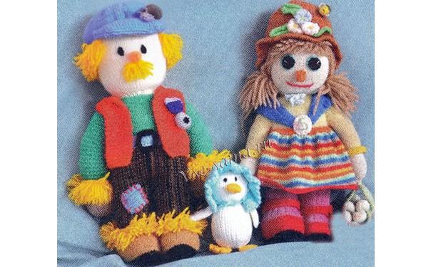 Вязаные куклы «Веселая семейка». Описание