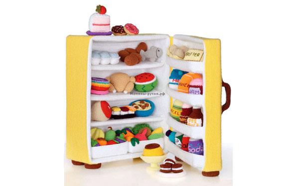 Вязаный холодильник. Схема