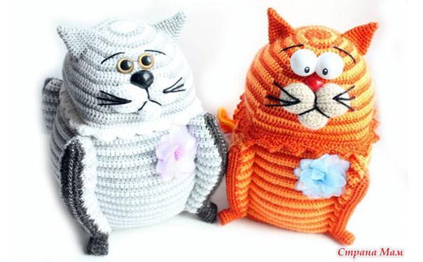 Вязаный кот-шкатулка. Схема