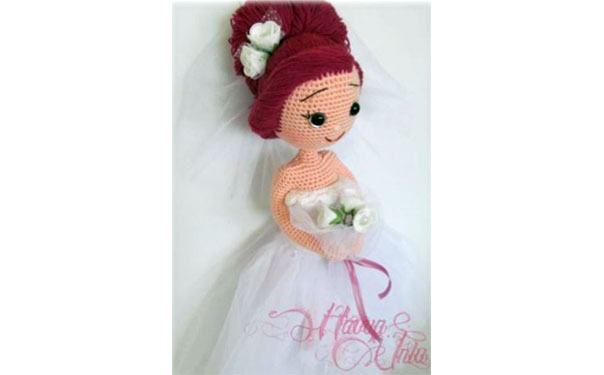Вязаная кукла-невеста. Схема