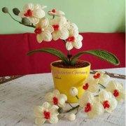 Вязаные цветы орхидеи. Схема