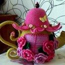 Цветочная грелка на чайник. Схема