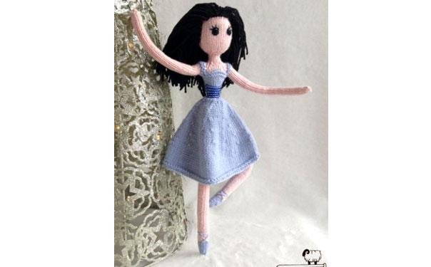"Clara Doll. Вязаная кукла ""Балерина"". Описание"