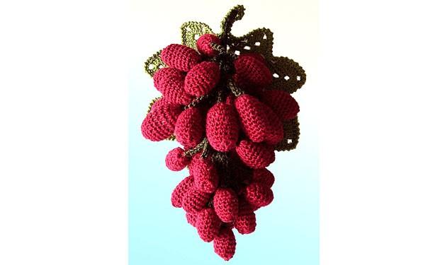 Вязаная гроздь винограда. Схема