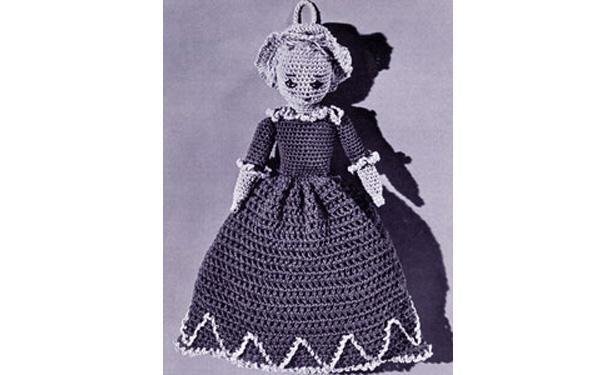 Вязаная винтажная куколка. Описание