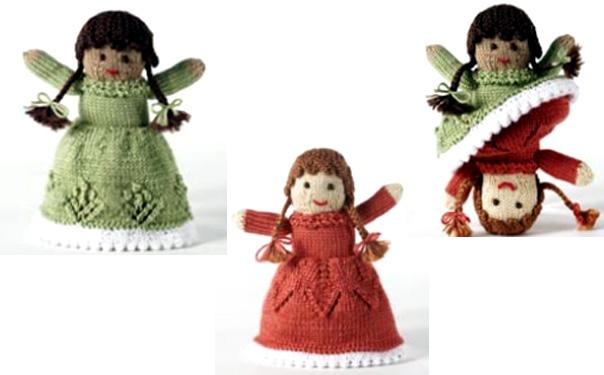 Вязаная спицами кукла Bernat-Satin