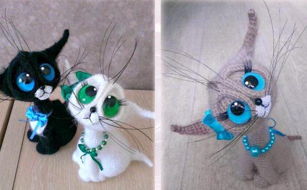 Вязаный крючком котик. Схема
